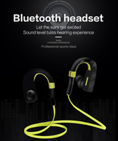 Wholesale Professional Hearing - 2016 New Professional Sports Sound level bass hearing Bluetooth Headset in ear headset earphones with free shipping