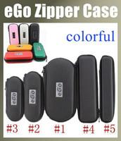 Wholesale Slim Ce4 - eGo Ce4 kit Case Slim Black Leather eGo Carrying Case Bag Evod Starter Kit Zipper Case For One Vape Pen 1300mAh One Usb Charger 7 Colors