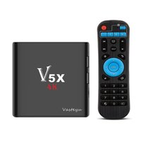 Wholesale Wholesale Tv Tuner - V5X Android TV Box 4K Amlogic S905X Android 6.0 KD17.3 Krypton Fully Loaded IPTV Stream TV Box