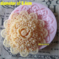 Wholesale Bakeware Silicone Moulds - Top Quality Food Grade Silicone Fondant Molds Rose Flower Cake Chocolate Biscuit Bakeware Moulds Sugarcraft Flowers Tools