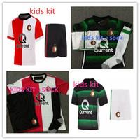 Wholesale Shirt Men Free - In stock !Free epack 2017 2018 kids kit Feyenoord Soccer Jersey 17 18 kids youth Football jerseys Shirts Kuyt Lex Immers Simon Kramer jersey
