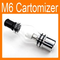 Wholesale Oxidation Oil - Best Price M6 Clearomizer Anti-oxidation 4.0ml Cartomizer for eGo Healthy Electronic Cigarette M6 Atomizer for Solid Smoke Oil free shipping