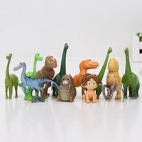Wholesale Dinosaur Sets - 12pcs set Movie The Good Dinosaur figure Arlo Spot Henry Butch figure set pvc action toys 2.5-7cm