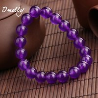 Purple Calcedonia, pérolas de pedras semipreciosas naturais Autênticos 6mm / 8mm / 10mm Bead Stone Beaded Bracelets Crystal Gemstone Jewelry em massa