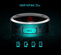 Wholesale Tungsten Energy - Newest Jakcom NFC Smart Ring Android Wear Bluetooth Magic Device For Samsung HTC Sony LG Phone Fashion Energy Tungsten Gold Smart Rings R3