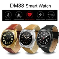 Wholesale Golden Shake - Waterproof Smart Watch DM88 Bluetooth Smartwatch with Heart Rate Monitor Round Dial Sports Wrist Watches Shake Control for iOS 7.0 Android