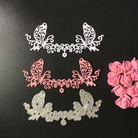 Wholesale Craft Card Designs - Metal Lace Flower Design Cutting Dies Stencils for DIY Scrapbooking Photo Album Decorative Embossing DIY Paper Cards Craft