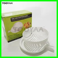 Wholesale Vegetables Wash - 60 Second Quick Salad Cutter Bowl Kitchen Vegetable Fruit Washing and CutterTools Quick Salad Maker Chopper Tools