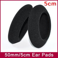 Wholesale Headphone Cushion Covers - EarPads Foam Pad Sponge cushion cover Diameter 50mm 5cm for PP PX100 PX200 PX100II PX200II PX300 headphone earphones 3pairs lot