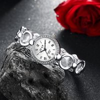 Wholesale Platinum Watch Ladies - Hollow Ladies fashion ladies watch steel belt watch wholesale factory direct as Gifts for Your Friends