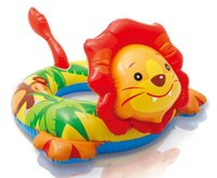 Wholesale Intex Ring - Wholesale- LION Inflatable Intex Animal Shaped Pool Ring Safety Float 3-6yrs Beach Swim NEW
