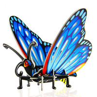 Wholesale paper butterfly toy - New Animal Puzzle Butterfly Grasshopper Wasp Beetle Styles Mix Puzzle Toys DIY D Three dimensional Jigsaw Intelligence Toys