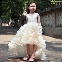 sıcak kız topu toptan satış-Prenses elbise Fishtail gelinlik balo elbisesi organze kız elbise 3-12t kızlar için 2 renk boyutu 2016 yaz Yeni stil sıcak satış.