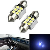 20x Blanc 6SMD 8SMD 31MM 2835 CAR LED Ampoules Festoon Pour Car Dome Map Light DE3175 DE3022