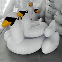 New Adult Child Summer Lake Swimming Water Lounge Pool Giant Rideable Swan Gonflable Float Toy White 2506010
