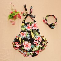 Wholesale Chevron Baby Girl Clothes - 2016 New Arrival Wholesale retail Baby Clothes Cashew flowers Baby Bubble Romper Chevron Rompers Photo Props with headband