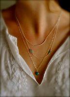 Wholesale Turquoise Hamsa Necklace - Designer Boho Hamsa Fatima Hand Evil Eye Bead Turquoise 3 Layers Chain Fashion Gold Plated Pendant Necklaces Jewelry bohemian Charm Jewellry