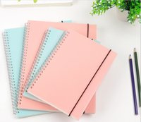 Creative Simple Color Materiale PP Cover Argento Double Coil Ring Spiral Notebook B5 Line Inside Paper Notepad