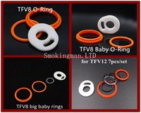 Wholesale Seals Baby - TFV8 Silicone O Sealing Rings for Cloud Beast TFV8 baby Tank TFV8 Big Baby TFV12 Tank VS Resin Drip tip tips