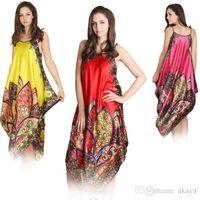 Wholesale Skirt Nighty Dress - Sexy Women Imitated Silk Sleepwear Robes Dress Night Skirt Nighty Nightgowns Hot Color Rose Red Yellow