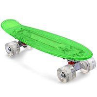 Wholesale Retro Cruiser Skateboard - 2106 New Arrivals CL - 403 Transparent PC Cool LED Skateboard Complete 22 inch Retro Cruiser Longboard For Child