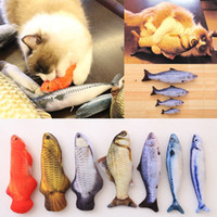 Wholesale Fish Coat - New Pet Dog Kitten Cat Mint Play Fish Shape Plush Toys Coated With Catnip Grass