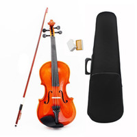 Wholesale violin sizing resale online - Size Acoustic Violin with Fine Case Bow Rosin for Age M8V8