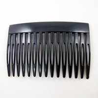 Wholesale Hair Accessories Materials - 15 teeth comb,70*45mm plastic hair comb,Diy materials,Handcraft accessories,Christmas headwear fittings,Environmental wedding accessories