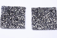 Wholesale Wholesale Iron Princess Patches - Square black diamond Hotfix Rhinestone motifs 4cm 20pcs lot iron on transfer Applique patches for clothing shoe bags craft diy