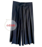 Wholesale harem pants trend - Men and women fashion the new trend of cultivate one's morality personality big yards across nine skirts pants legs   custom
