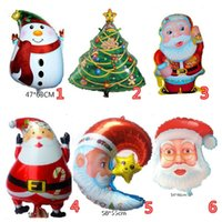 Wholesale Large Inflatable Toys - New Christmas foil balloons merry Christmas balloons helium inflatable Balloon Christmas decoration classic toys gifts With Large size
