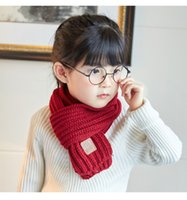 Unisex Children Scarf Shawl Soft Knited Neck Warmer Wrap Fato grosseiro Boy Girl Kids Neckerchief Winter Warm Scarves