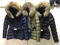 Wholesale Hooded Outwear Women - High Quality New 2016 Big Fur Collar Hooded Brand Women Winter Coat Duck Down Jacket Female Parka Outwear For Women Black Size S-XL