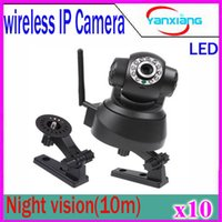 Wholesale Two Way Webcams - HD IP Camera Wireless WIFI webcam pan tilt Infrared IR cctv Network surveillance camera two way audio baby monitor alarm 10 pcs ZY-SX-01