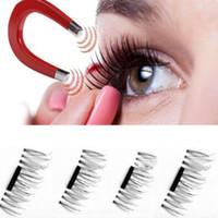 Wholesale Extensions Lashes - Magnetic Eye Lashes 3D Mink Reusable False Magnet Eyelashes Extension 3D Eyelash Extension Magnetic Eyelashes 4pcs set CCA7063 200set