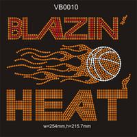 strass de fer orange achat en gros de-Cristal orange / clair / Siam Blazin chaleur sport personnalisé chaud fer de transfert de strass sur vêtement 25 pièce / sac