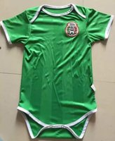 Wholesale Soccer Jerseys Wholesale Cotton - 2017 2018 New chelsea Baby soccer Jersey Cotton Short Sleeved Jumpsuit Mexico Baby Triangle Climb Clothes Loveclily 17 18 baby's fans shirt