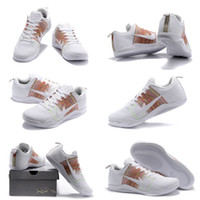 Wholesale Horse Body - (With shoes Box) Free Shipping High Quality Kobe 11 XI 11 PE 4KB White Horse Men Basketball Sport Sneakers Shoes
