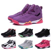 Drop Shipping 2016 de basket-ball en gros Chaussures Femme Retro vrai Vol Dan 7 Sneakers High Quality Cheap Hot Sale Chaussures de sport Taille 36-40