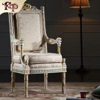 poltrona de móveis venda por atacado-Mobiliário provincial francês-clássico mobiliário de sala de estar-mobiliário real fabricante de móveis de estilo francês-poltrona Frete grátis