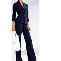 Wholesale Women S White Tuxedo Jacket - Women Pant Suits Female suit dress Notch Lapel Women's Business Office Tuxedos Jacket+Pants Ladies Suit Custom Made