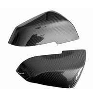 боковые зеркала оптовых-Реальные углеродного волокна боковое зеркало крышки Крышки комплект 3 серии седан F20 F30 F35 320 328 335 для BMW