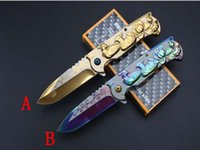 Wholesale Clip Fine - Best Value Browning Folding Knife 7Cr13 Fine Blade Assisted Fast-Open Pretty Blue EDC Pocket Rescue Gift Knife With Clip F662E