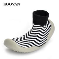 Wholesale Girls Socks Years Old - Knitting Sock Shoes Baby First Walker Indoor Shoe 2017 Koovan 0-2 Years Old Boy Girl 12-16 Cm Free Ship K498