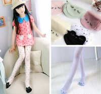 Wholesale Pantyhose Japan - Cute Cat Girl Tights Children's Sheer Stockings For Girls Kids Baby Pantyhose Cartoon Characters Tight 2016 Summer