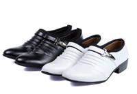 Wholesale Groom Wedding Shoes White - groom dress shoes casual shoes white wedding shoes suit gentleman men's shoes