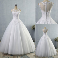Wholesale T Shirt For Beach - 2017 lace White Ivory A-Line Wedding Dresses for bride Dress gown Vintage plus size Customer made size 2-26W