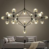 Wholesale Dna Pendant Light - Modern Glass Chandeliers designer Jason Miller MODO chandelier Lighting Fixtures Living Room dining room LED DNA Pendant Lamp 110V-240V