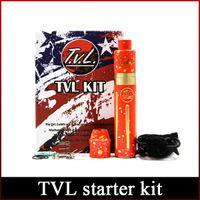 Wholesale tvl kits resale online - Newest TVL Colt Mod Starter Kit TVL Mechanical Mod tube with TVL RDA atomizer DHL freeshipping