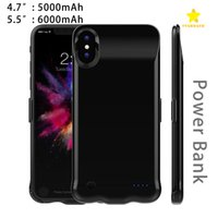 Wholesale Mobile Phone Cover Chargers - 5000Mah 6000Mah Power Bank Charger Case Cover Mobile Phone Backup Battery for iPhone 6 Plus 7 Plus iPhone 8 with Package